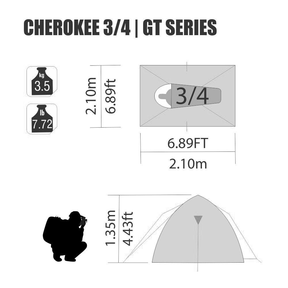 Barraca Cherokee GT 3/4 - Nautika