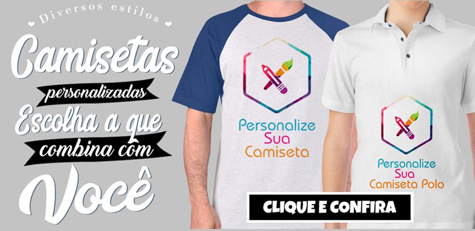 Diversos estilos de camiseta
