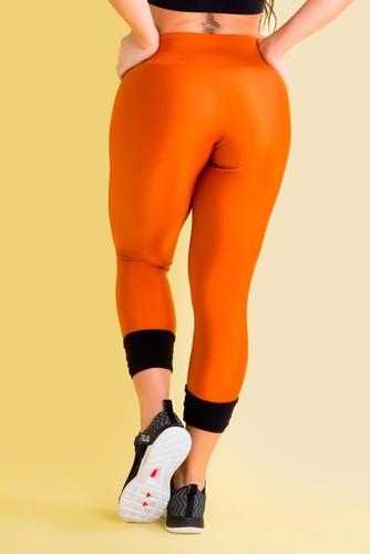 Calça Legging Fitness Cordão Barra Platine Bronze