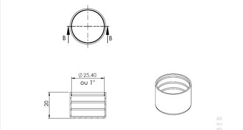 Ponteira Plástica Externa Para Tubo 1
