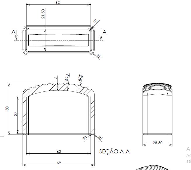 Sapata de Borracha para Escada Extensiva Externa