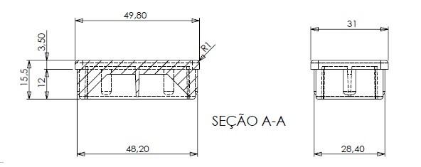 Ponteira Plástica 50x30
