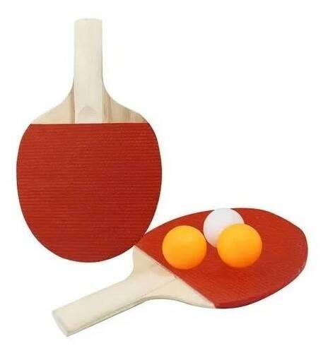 Kit Ping Pong C/2 Raquetes 3 Bolas