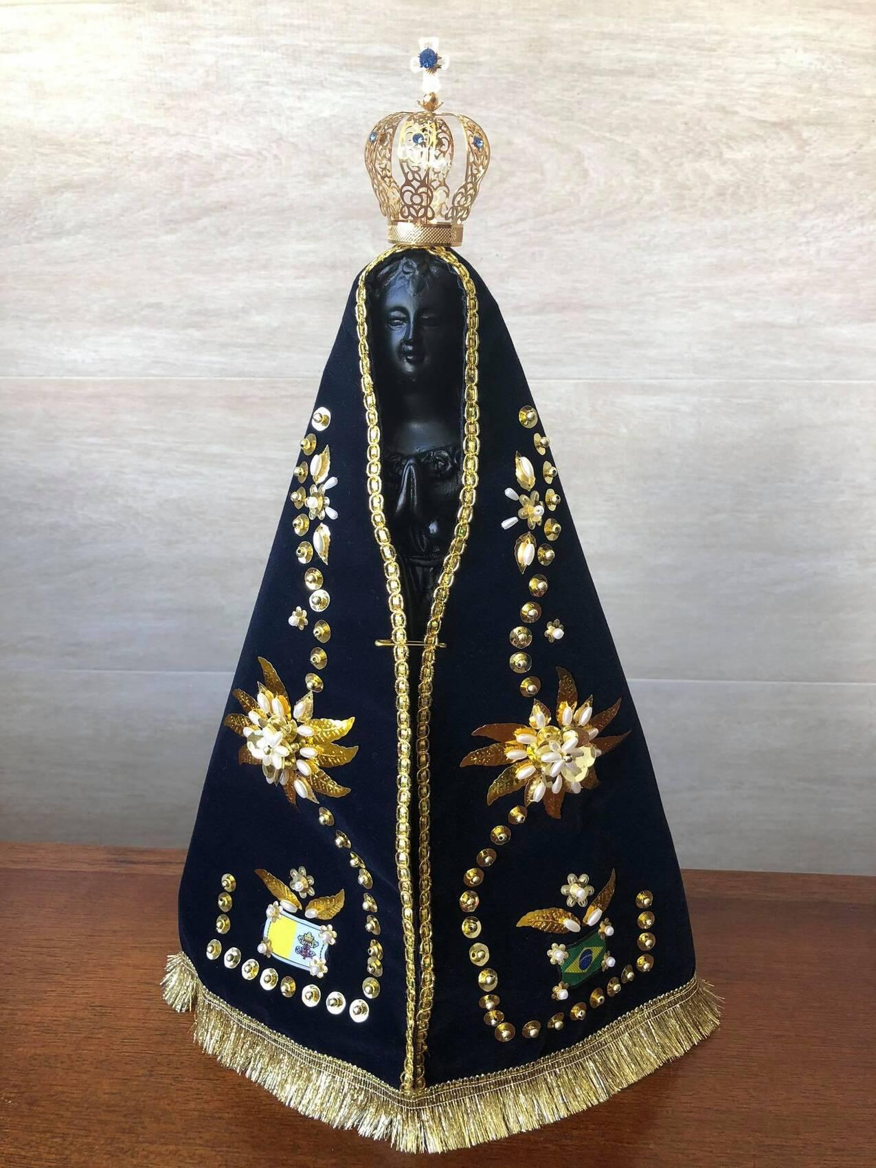 Nossa Senhora Aparecida - 40cm - Completa - Resina