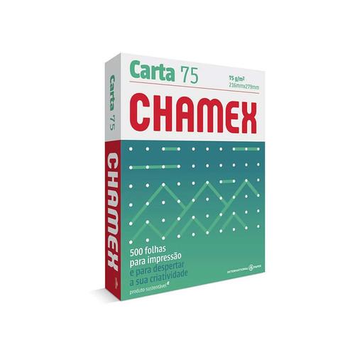Papel Sulfite Carta 75g Chamex Officer com 500 Folhas