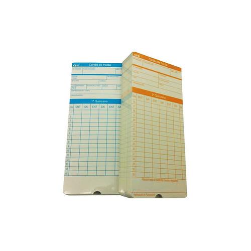 Cartão Ponto Relógio Cartográfico - 200 Unidades