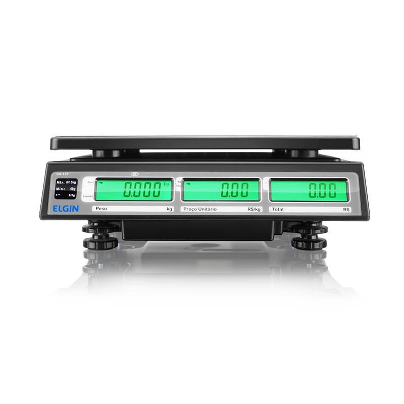 Balança Eletrônica Computadora Elgin SA 110 Com Bateria