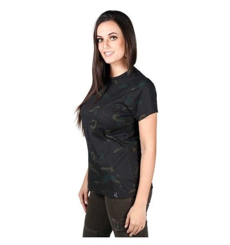 Camiseta Feminina Soldier - Multicam Black