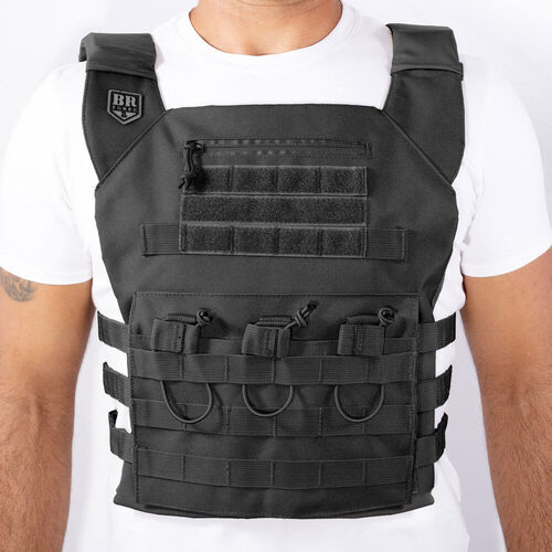 Colete Plate Carrier Couraça - Preto - BR Force