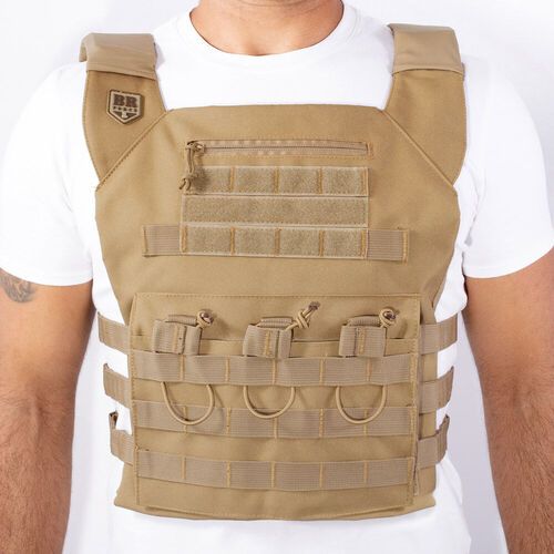 Colete Plate Carrier Gladiador - Coyote - BR Force