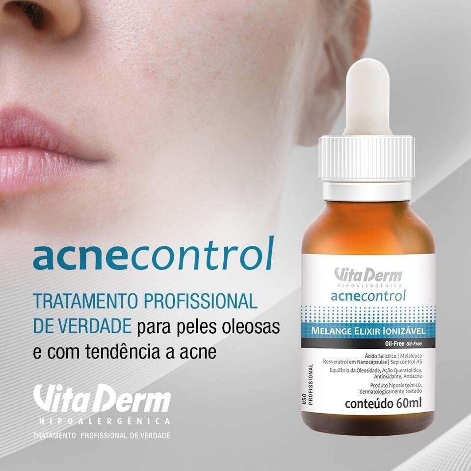 Vita Derm Acne Control Melange Elixir Ionizável 60ml