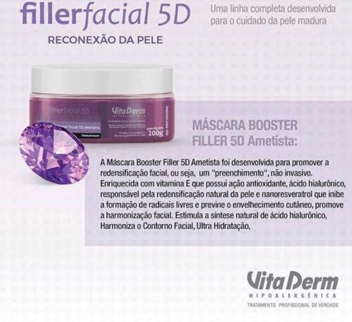 Vita Derm Máscara Booster Filler 5d Ametista 200gr