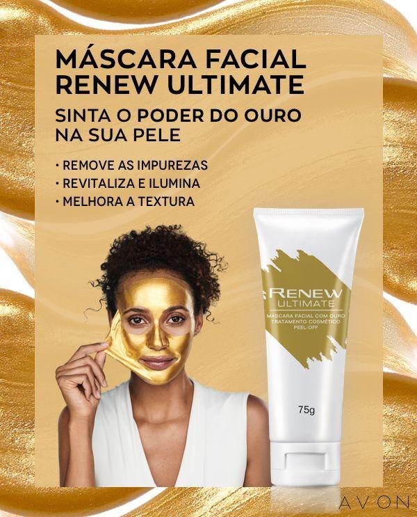 Avon Renew Ultimate Máscara Facial com Ouro Peel-Off 75g