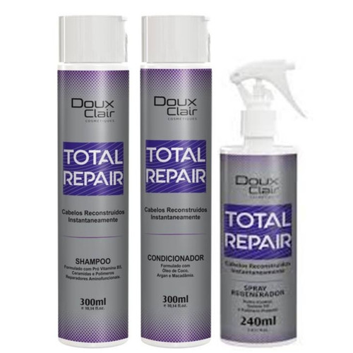 Doux Clair Total Repair Reconstrução Capilar Kit