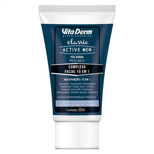 Vita Derm Classic Active Men Complexo Facial 10 em 1 FPS 30 - 50ml