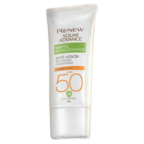 Avon Renew Solar Advance Matte Anti-Idade FPS 50