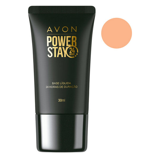Avon Power Stay Base Líquida Bege Médio 30ml