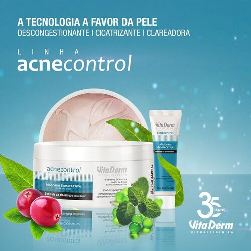 Vita Derm Acne Control Máscara Biossecativa Facial 200gr